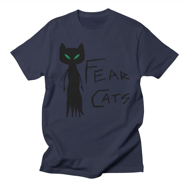 Fear Cats Women's Regular Unisex T-Shirt by The Little Fears