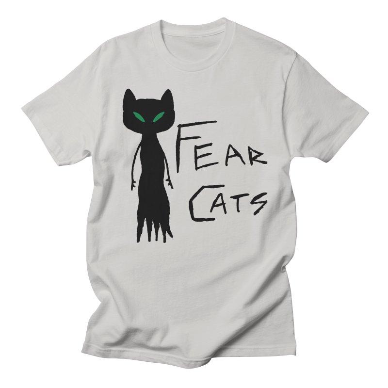 Fear Cats Men's Regular T-Shirt by The Little Fears