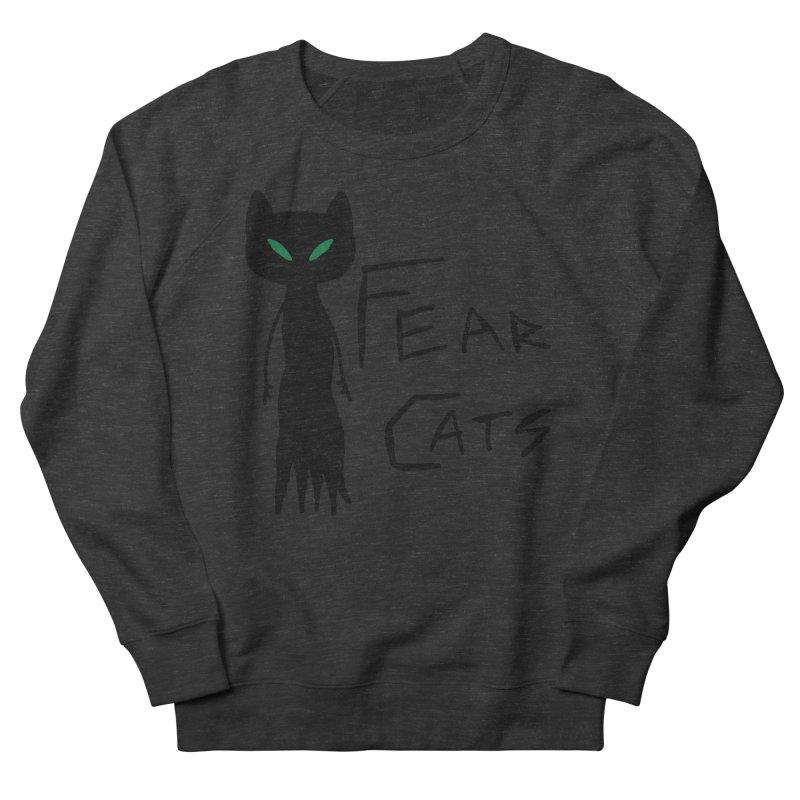 Fear Cats Women's French Terry Sweatshirt by The Little Fears