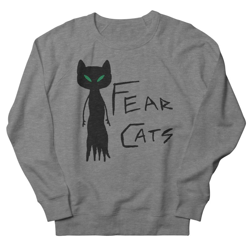 Fear Cats Men's French Terry Sweatshirt by The Little Fears