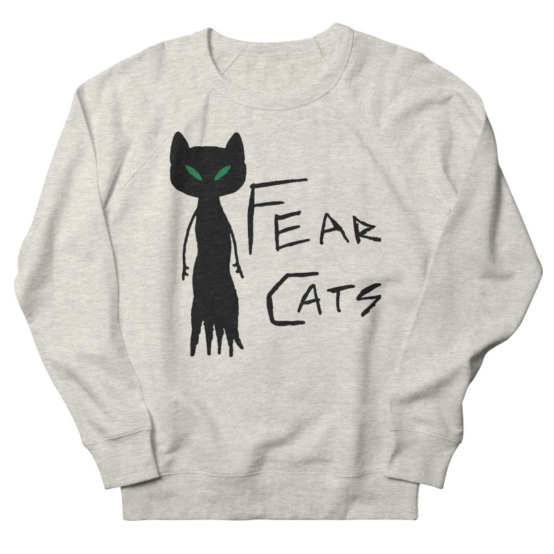 Fear Cats Men's French Terry Sweatshirt by The Little Fears