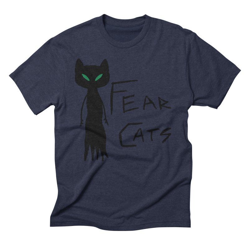 Fear Cats Men's Triblend T-Shirt by The Little Fears