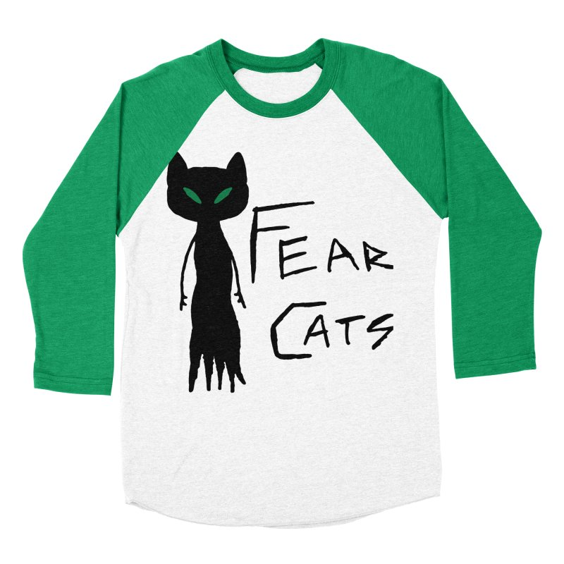 Fear Cats Men's Baseball Triblend Longsleeve T-Shirt by The Little Fears