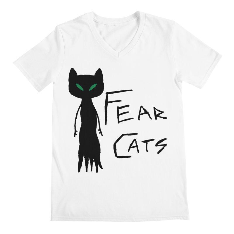 Fear Cats Men's V-Neck by The Little Fears