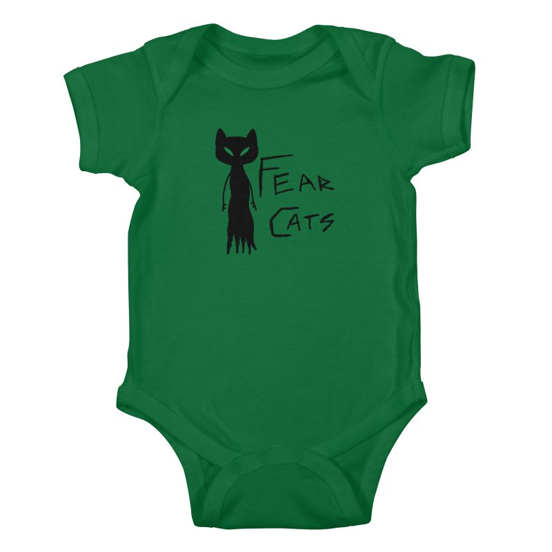 Fear Cats Kids Baby Bodysuit by The Little Fears
