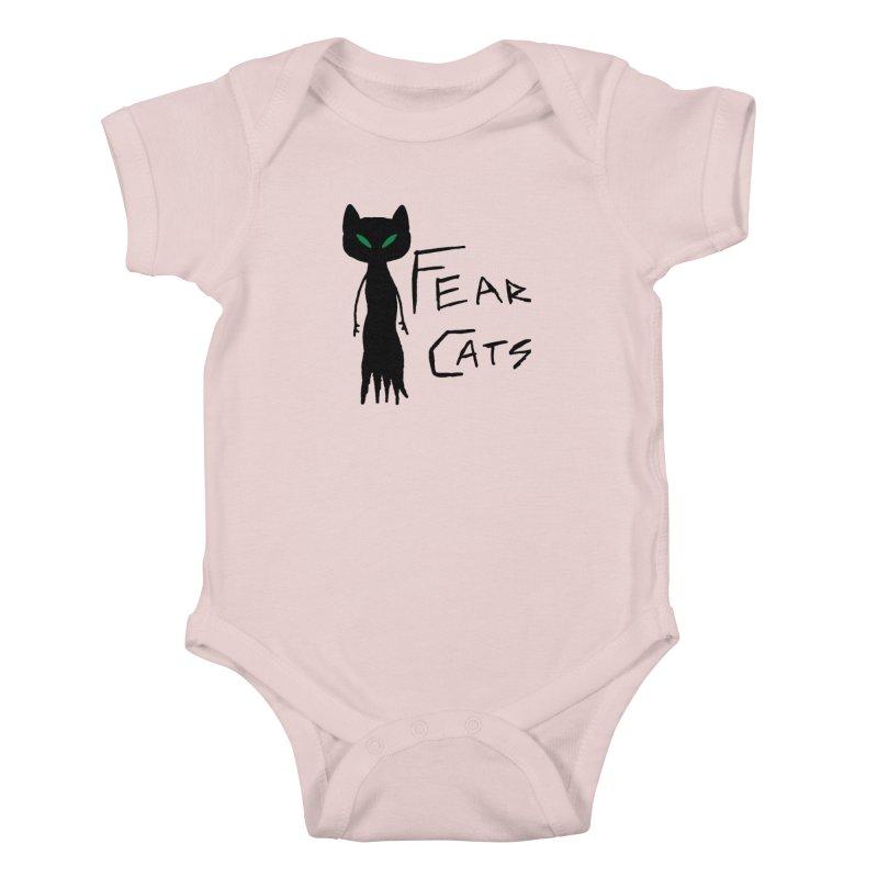 Fear Cats Kids Baby Bodysuit by The Little Fears