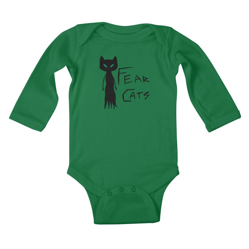 Fear Cats Kids Baby Longsleeve Bodysuit by The Little Fears