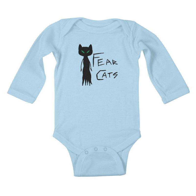 Fear Cats Kids Baby Longsleeve Bodysuit by The Little Fears