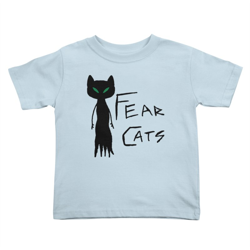 Fear Cats Kids Toddler T-Shirt by The Little Fears