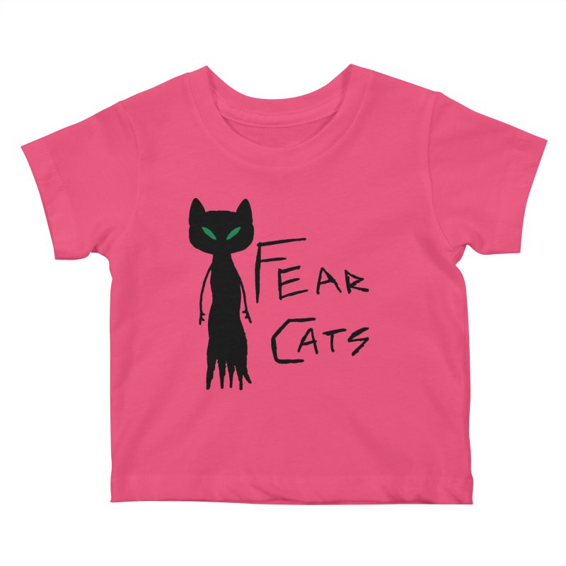 Fear Cats Kids Baby T-Shirt by The Little Fears