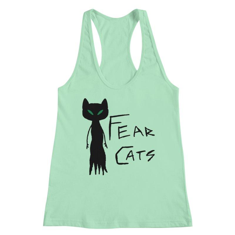 Fear Cats Women's Racerback Tank by The Little Fears