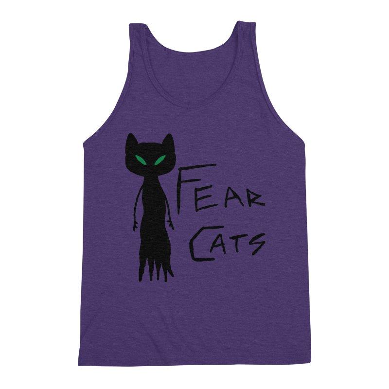 Fear Cats Men's Triblend Tank by The Little Fears