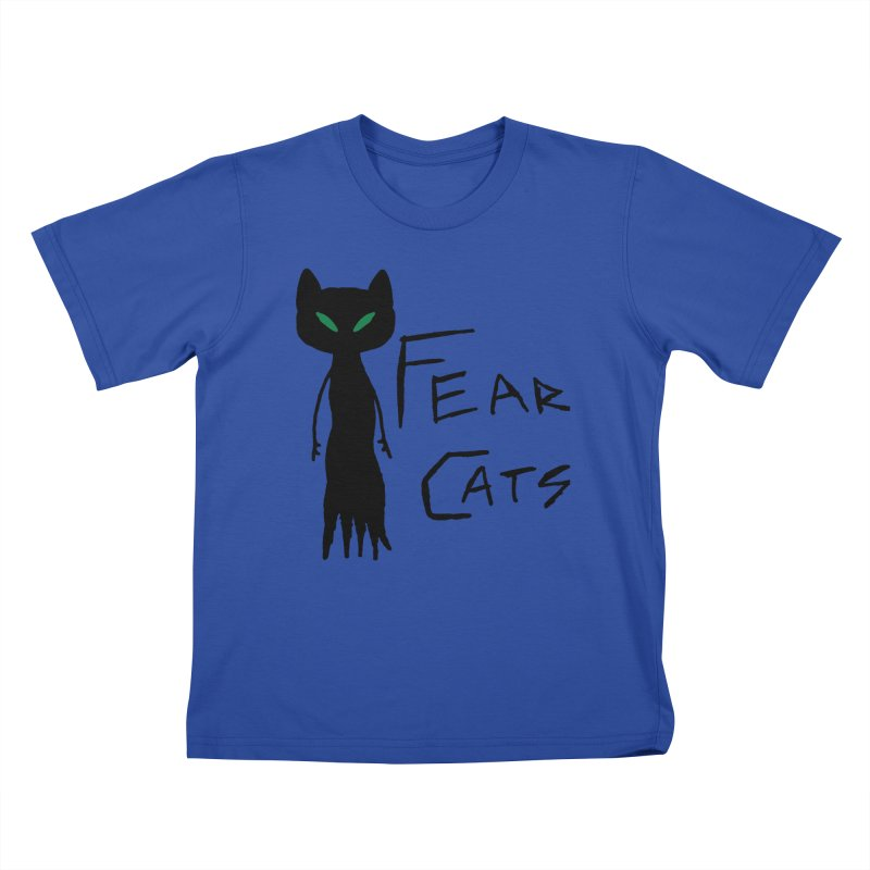 Fear Cats Kids T-Shirt by The Little Fears