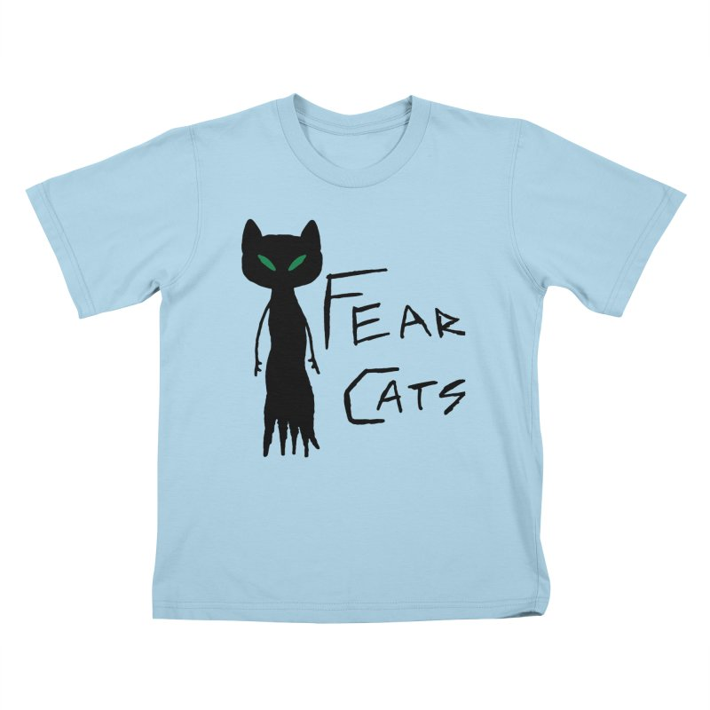 Fear Cats Kids T-Shirt by The Little Fears