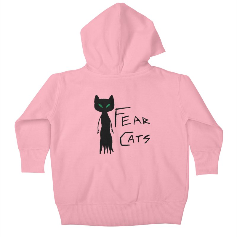 Fear Cats Kids Baby Zip-Up Hoody by The Little Fears