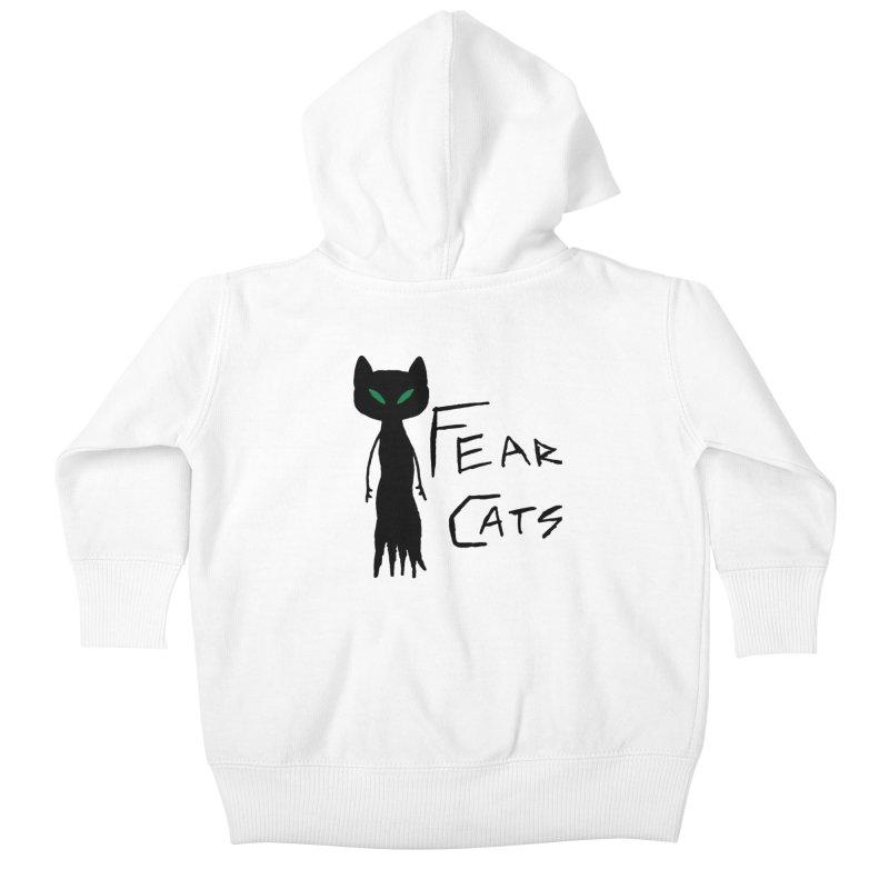 Fear Cats Kids Baby Zip-Up Hoody by The Little Fears