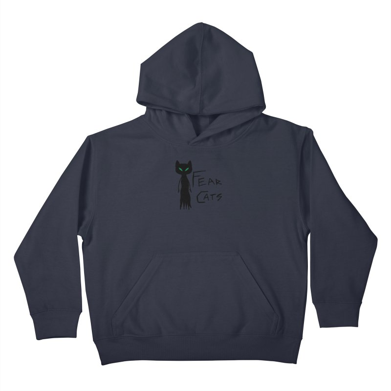 Fear Cats Kids Pullover Hoody by The Little Fears
