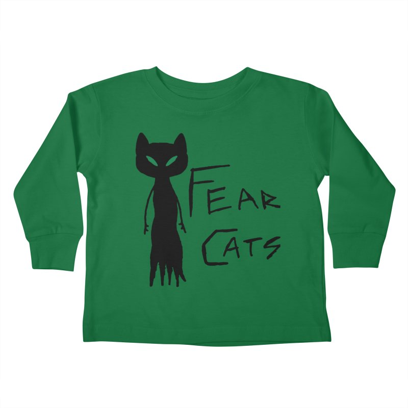 Fear Cats Kids Toddler Longsleeve T-Shirt by The Little Fears