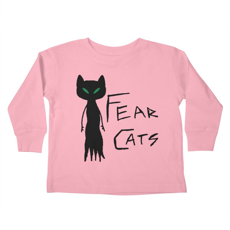 Fear Cats Kids Toddler Longsleeve T-Shirt by The Little Fears