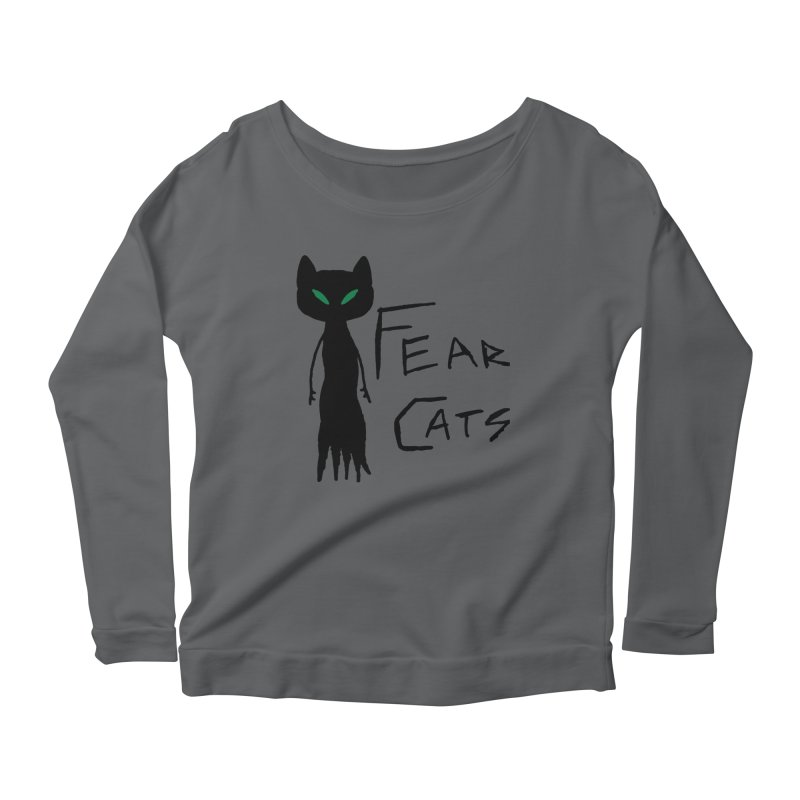 Fear Cats Women's Scoop Neck Longsleeve T-Shirt by The Little Fears