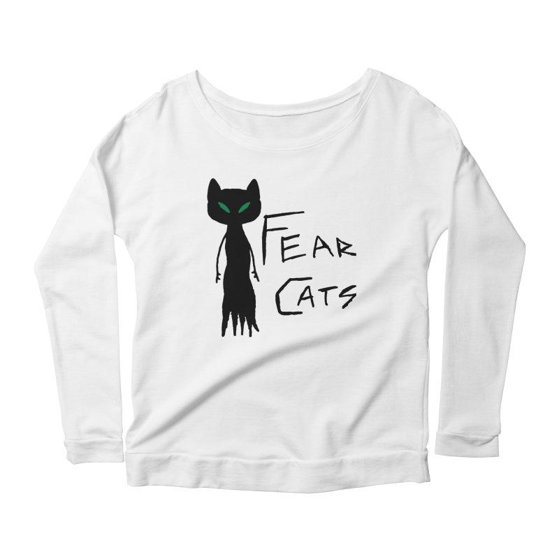 Fear Cats Women's Scoop Neck Longsleeve T-Shirt by The Little Fears