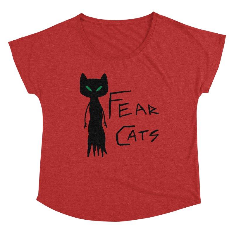 Fear Cats Women's Dolman Scoop Neck by The Little Fears