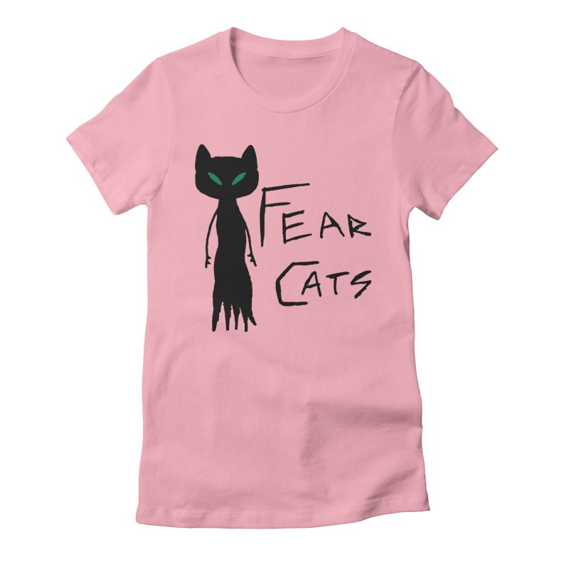 Fear Cats Women's Fitted T-Shirt by The Little Fears