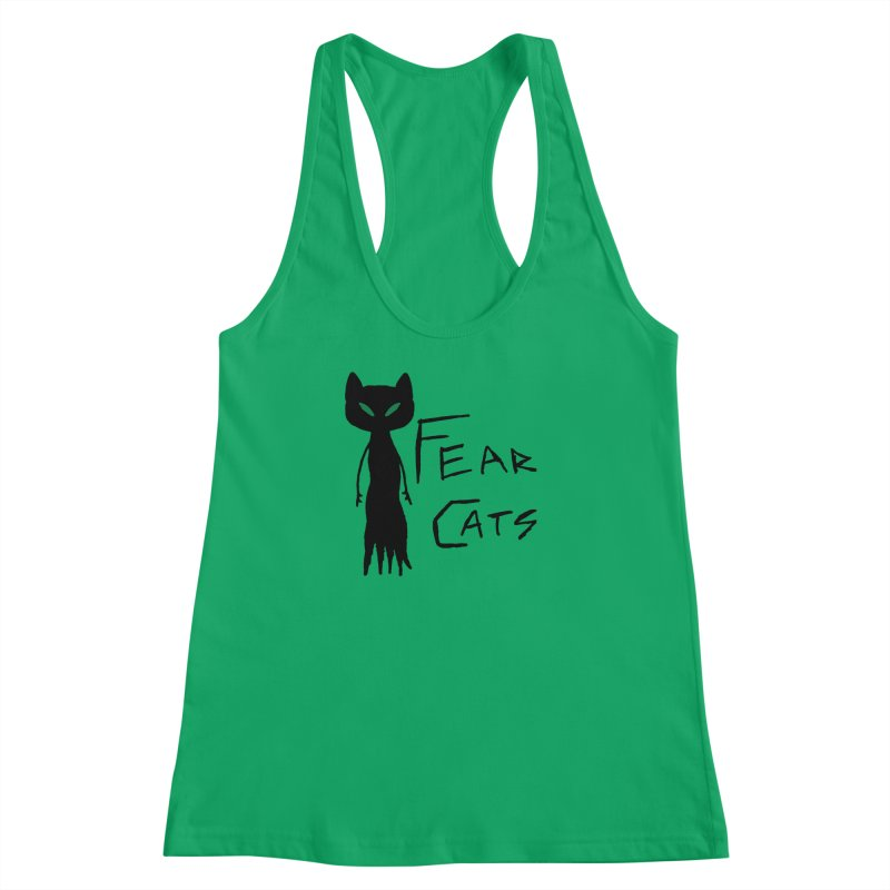 Fear Cats Women's Racerback Tank by The Little Fears