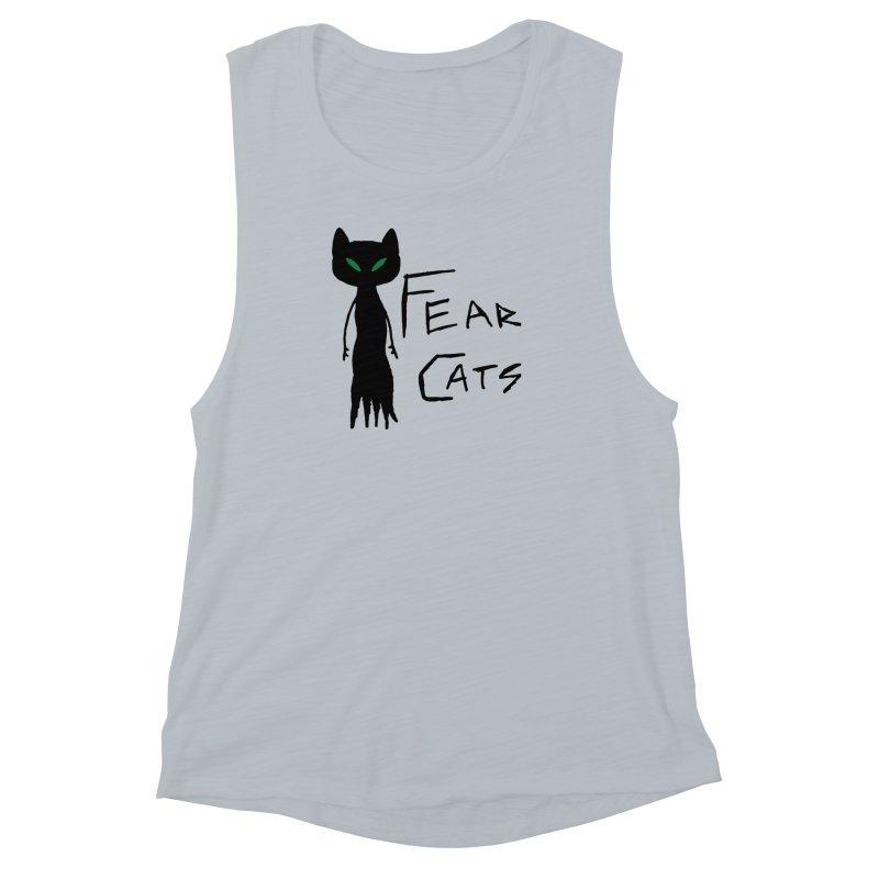 Fear Cats Women's Muscle Tank by The Little Fears