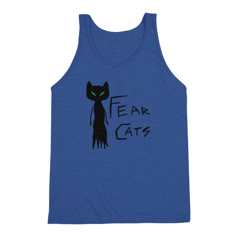 Fear Cats Men's Triblend Tank by The Little Fears