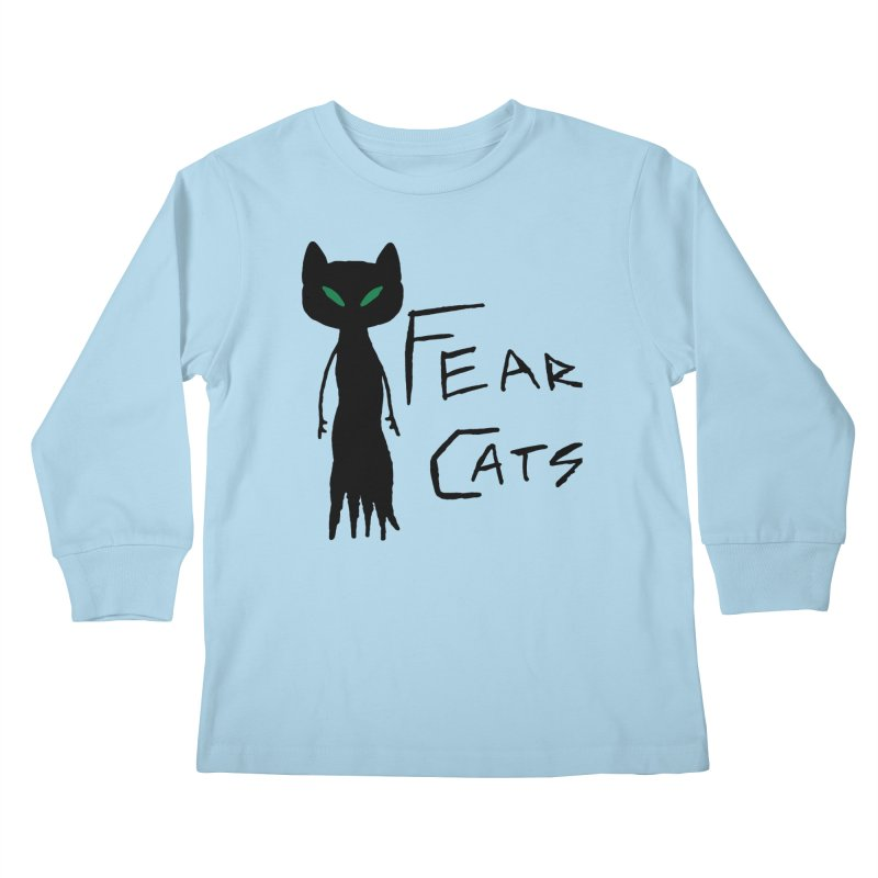 Fear Cats Kids Longsleeve T-Shirt by The Little Fears