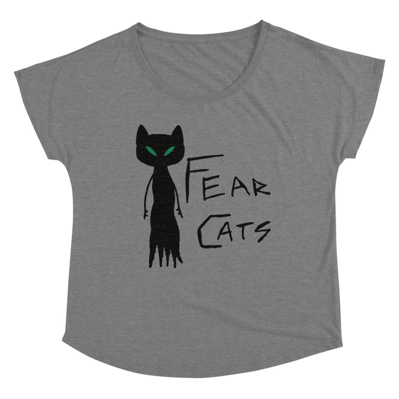 Fear Cats Women's Scoop Neck by The Little Fears