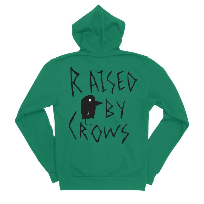 Raised by Crows Women's Sponge Fleece Zip-Up Hoody by The Little Fears