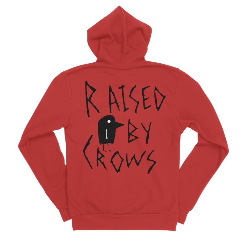 Raised by Crows Men's Zip-Up Hoody by The Little Fears