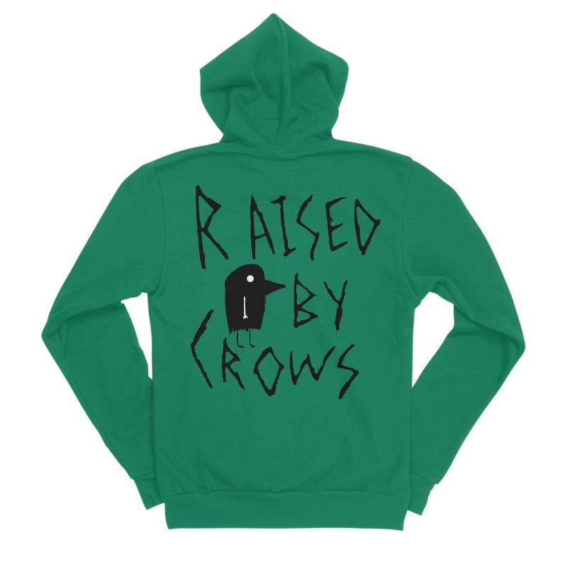 Raised by Crows Men's Sponge Fleece Zip-Up Hoody by The Little Fears