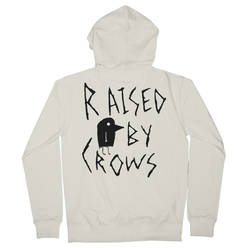 Raised by Crows Men's French Terry Zip-Up Hoody by The Little Fears