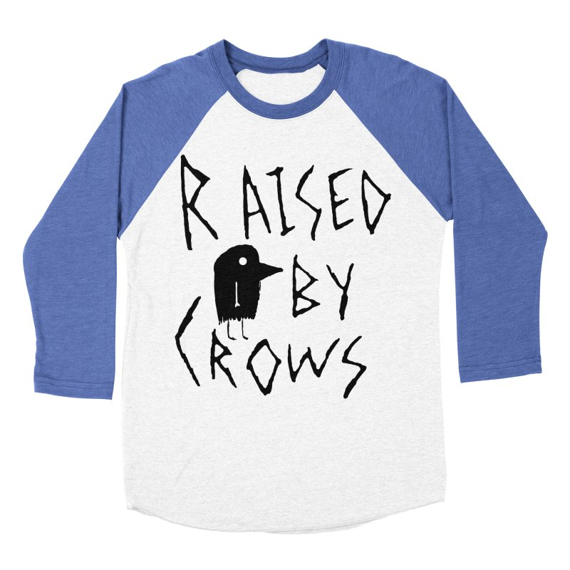 Raised by Crows Men's Baseball Triblend Longsleeve T-Shirt by The Little Fears