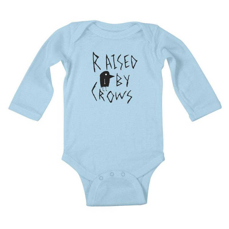 Raised by Crows Kids Baby Longsleeve Bodysuit by The Little Fears