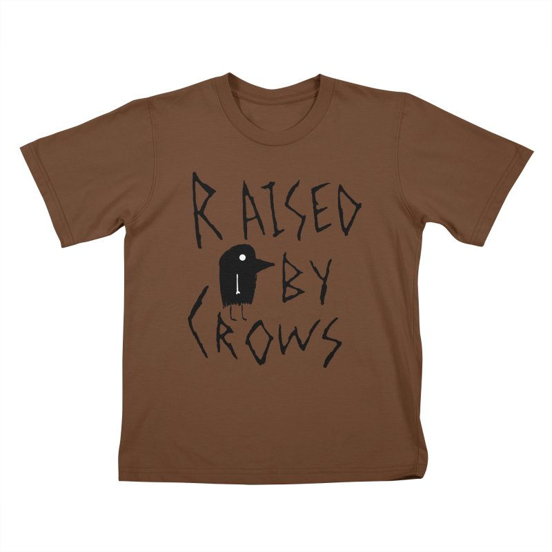 Raised by Crows Kids T-Shirt by The Little Fears