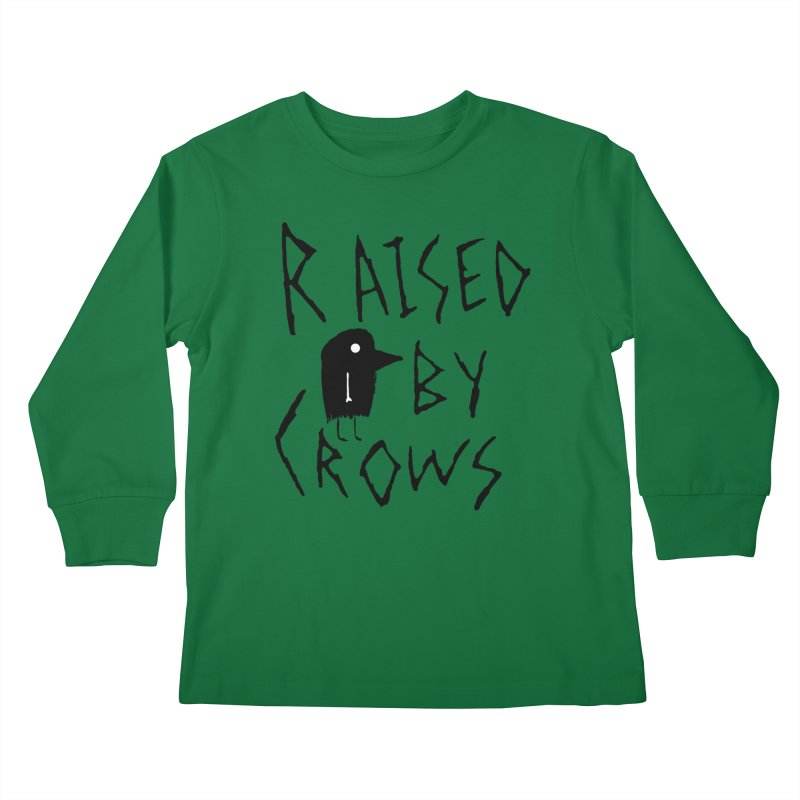 Raised by Crows Kids Longsleeve T-Shirt by The Little Fears