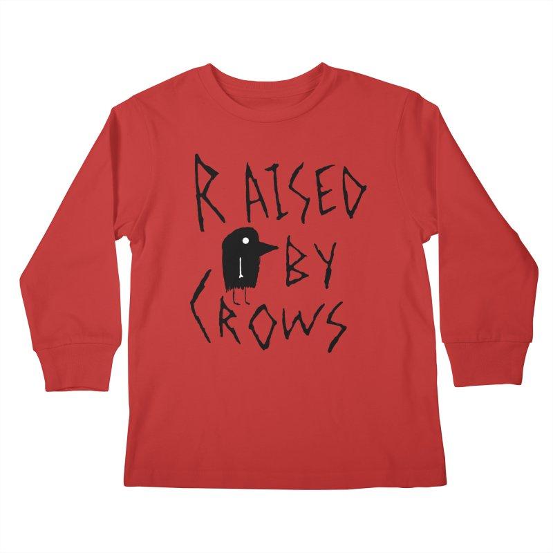 Raised by Crows Kids Longsleeve T-Shirt by The Little Fears