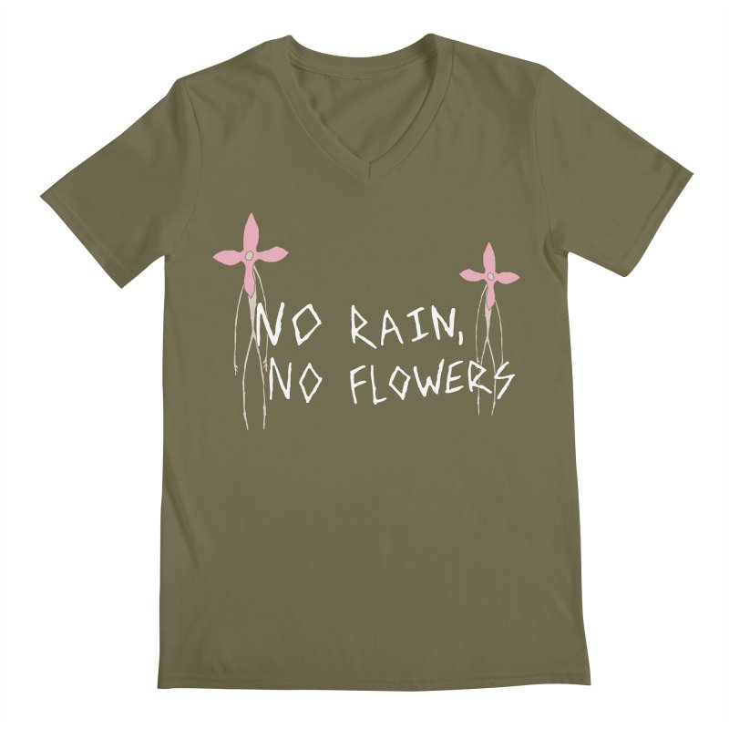 No rain, no flowers Men's Regular V-Neck by The Little Fears