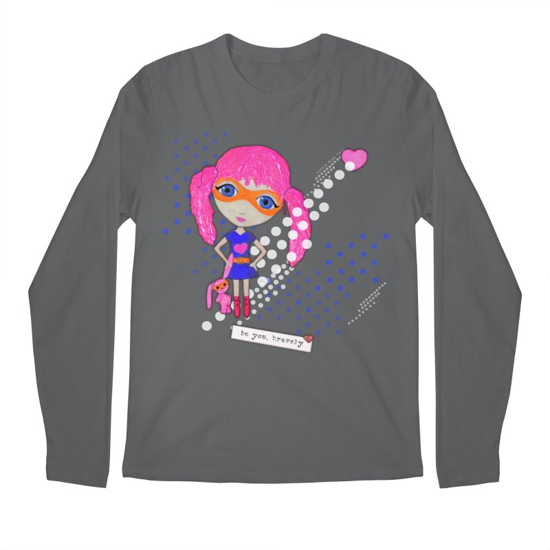 Bravely, She Took On The World Men's Longsleeve T-Shirt by LittleMissTyne's Artist Shop