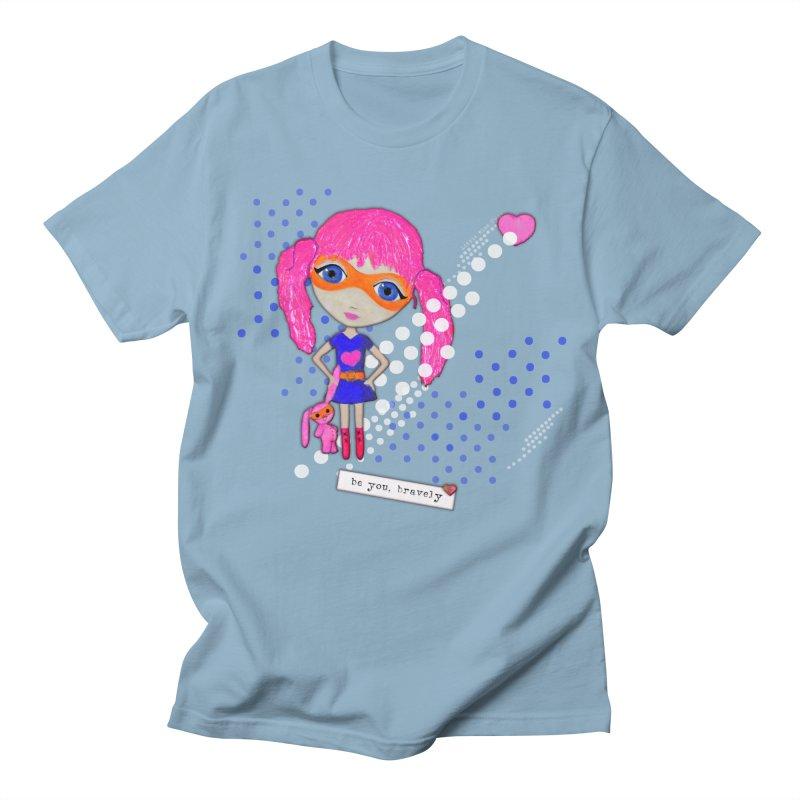 Bravely, She Took On The World Men's T-Shirt by LittleMissTyne's Artist Shop