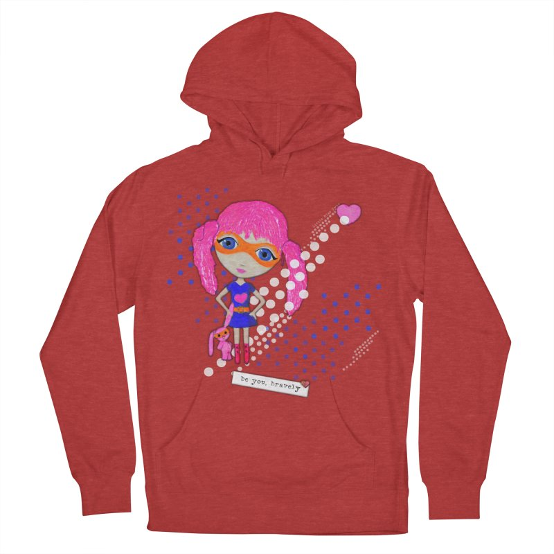 Bravely, She Took On The World Men's Pullover Hoody by LittleMissTyne's Artist Shop