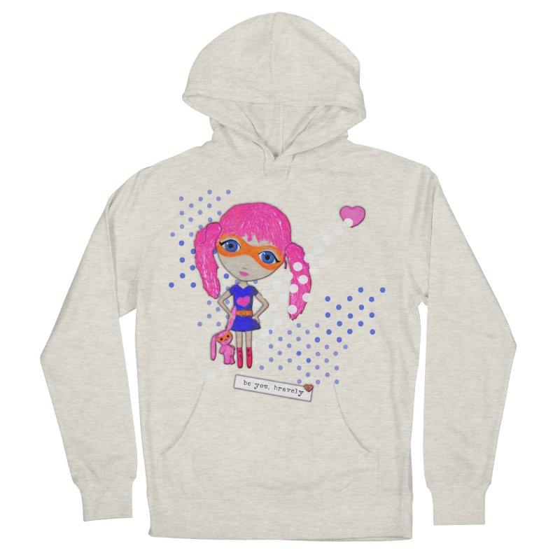 Bravely, She Took On The World Men's Pullover Hoody by LittleMissTyne's Artist Shop