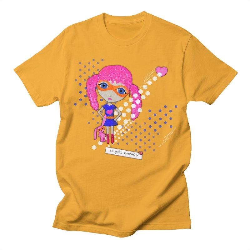 Bravely, She Took On The World Men's T-Shirt by Little Miss Tyne's Artist Shop