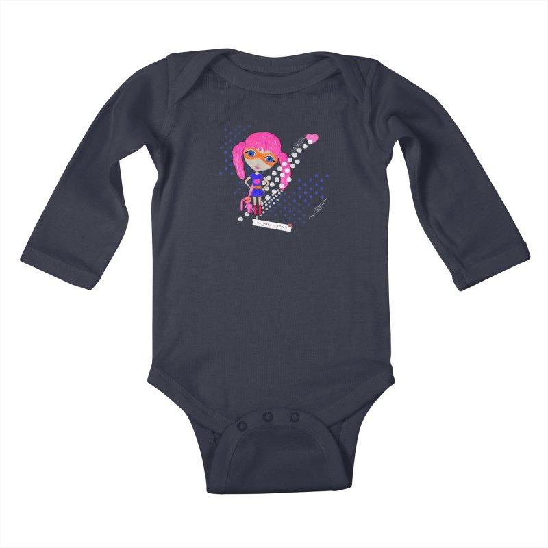 Bravely, She Took On The World Kids Baby Longsleeve Bodysuit by LittleMissTyne's Artist Shop