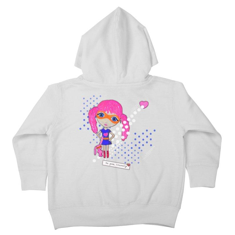 Bravely, She Took On The World Kids Toddler Zip-Up Hoody by LittleMissTyne's Artist Shop