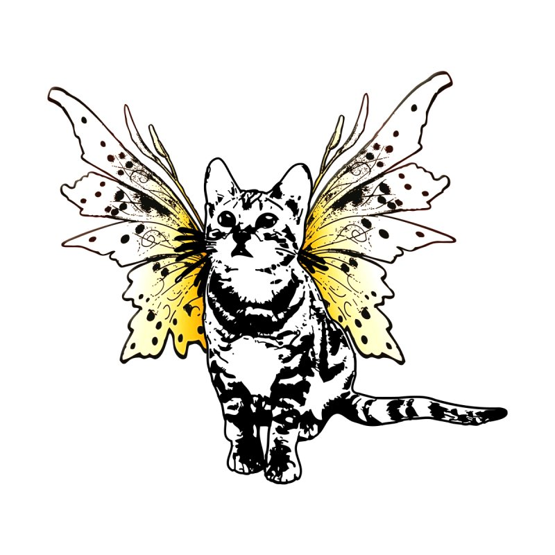 He's a Fairy Sweet Kitty Men's T-Shirt by Little Miss Tyne's Artist Shop
